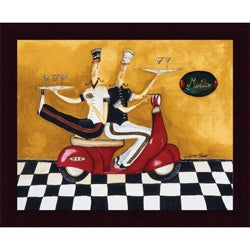 Jennifer Garant 'Martini Delivery' Framed Print Art