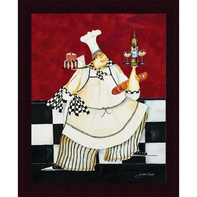 Jennifer Garant 'Crimson Chef II' Framed Print Art