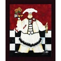 Jennifer Garant 'Crimson Chef I' Framed Print Art