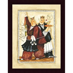 Jennifer Garant 'Wine & Roses IV' Framed Print Art