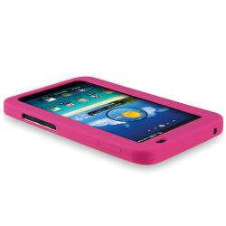 BasAcc Hot Pink Silicone Skin Case for Samsung Galaxy Tab P1000 7-inch