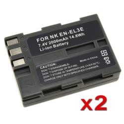 BasAcc Battery for Nikon ENEL3e/EN-EL3e/D90/D50/D70/D100 (Pack of 2)