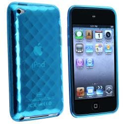 INSTEN Dark Blue Diamond TPU iPod Case Cover for Apple iPod Touch Generation 4