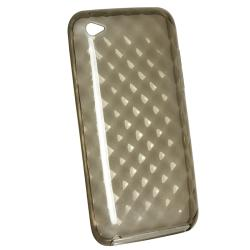 BasAcc Clear Smoke Diamond TPU Case for Apple iPod Touch Generation 4