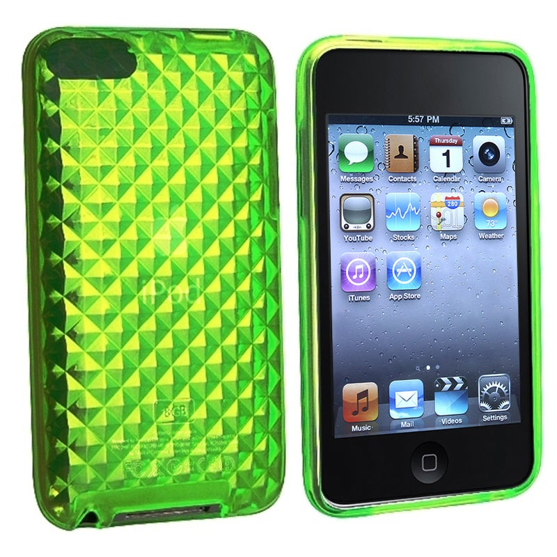 INSTEN Green Diamond TPU iPod Case Cover for Apple iPod Touch Generation 2/ 3