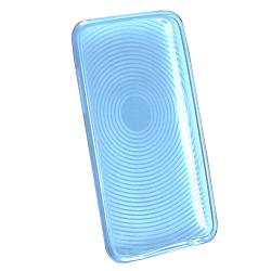 BasAcc Clear Blue Circle TPU Case for Apple iPod Touch Generation 2/ 3
