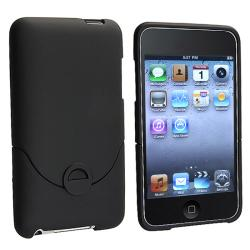 INSTEN Black Rubber Coated iPod Case Cover for Apple iPod Touch Generation 2/ 3