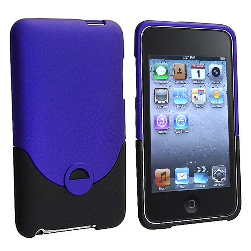 INSTEN Dark Blue/ Black iPod Case Cover for Apple iPod Touch Generation 2/ 3