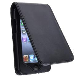 BasAcc Black Leather Case for Apple iPod Touch 2nd/ 3rd Generation
