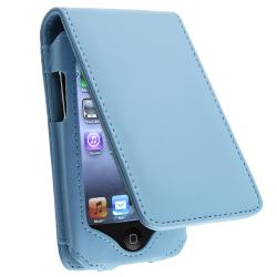 BasAcc Blue Leather Case for Apple iPod Touch Generation 2/ 3