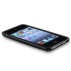 INSTEN Frost Black S Shape TPU iPod Case Cover for Apple iPod Touch Generation 4