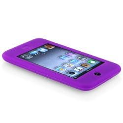 INSTEN Purple Soft Silicone Skin iPod Case Cover for Apple iPod Touch Generation 2/ 3