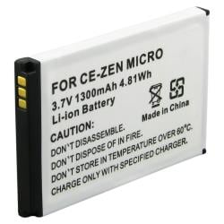BasAcc Replacement Battery for Creative Zen Micro