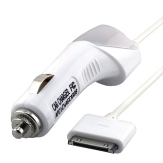INSTEN White Car Charger for Apple iPod AP21CHAGCAR08