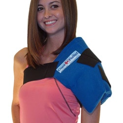 Cool Relief Soft Gel Shoulder Ice Wrap with Removable Inserts