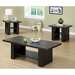 Cappuccino 3-piece Occassional Table Set