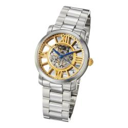 Stuhrling Original Men's Winchester Decorum Stainless-Steel Skeleton Link Bracelet Watch