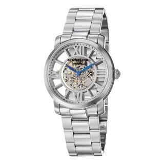 Stuhrling Original Men's Winchester Decorum Stainless Steel Skeleton Bracelet Watch