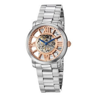 Stuhrling Original Men's Winchester Decorum Stainless-Steel Automatic Skeleton Bracelet Watch