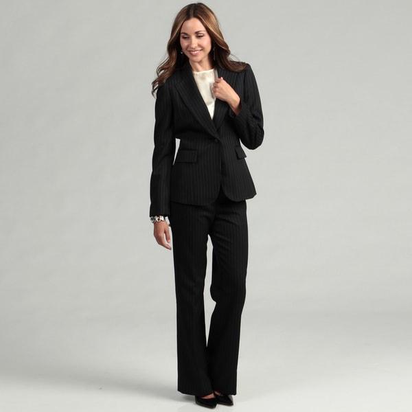 Tahari Women's Pinstripe Pant Suit
