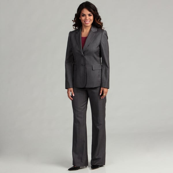 Tahari ASL Women's Notch Pinstripe Pant Suit