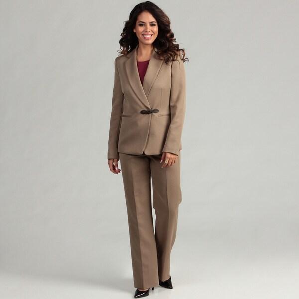 Tahari ASL Women's Herringbone Pant Suit