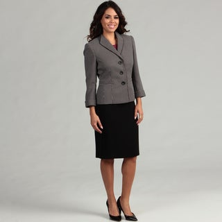Tahari ASL Women's Novelty Jacket Skirt Suit