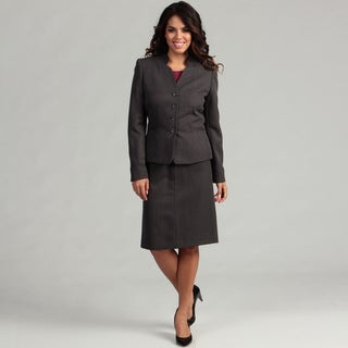 Tahari Women's 4-button Pinstripe Skirt Suit