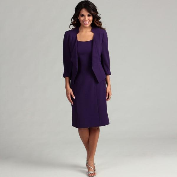 Tahari Women's Crepe Jacket Dress