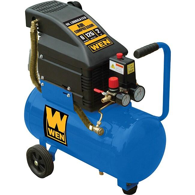 WEN 6-gallon 2HP Horizontal Tank Air Compressor