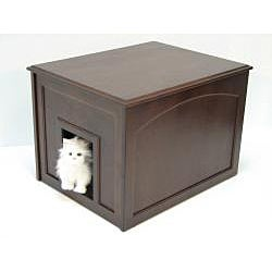 Indoor Doggie Espresso Eco-rubber Wood Den Cabinet with Hinged Top