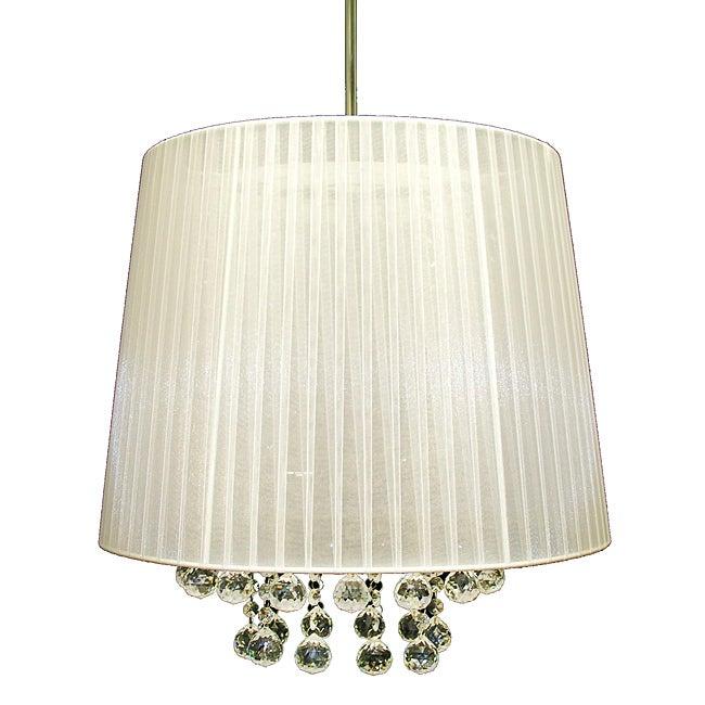 Warehouse of Tiffany White Ice Crystal Hanging Lamp