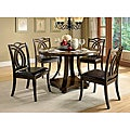 Kamiko 5-piece Dark Oak Finish Dining Set