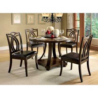 Furniture of America Kamiko 5-piece Dark Oak Finish Dining Set