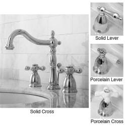 Chrome Widespread Venitian Bathroom Faucet