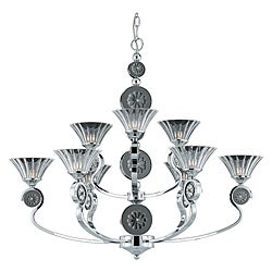 Medallion 9-light Plated Chrome Chandelier