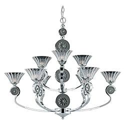 Medallion 9-light Plated Chrome Chandelier