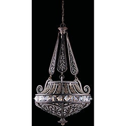 Grand 6-light English Bronze Pendant