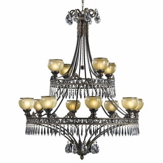 Le Grandeur 12-light English Bronze Chandelier