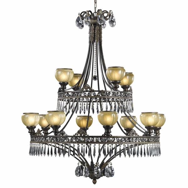Le Grandeur 12-light English Bronze Chandelier