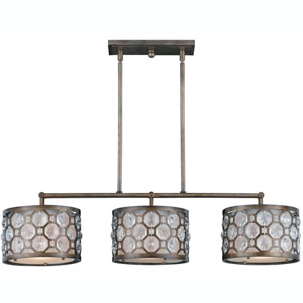 Cartier 3-light Weathered Bronze Island Light