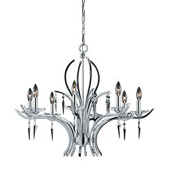 Allure 8-light Chrome Plated Finish Chandelier