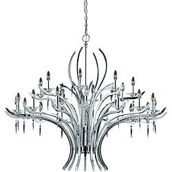 Allure 24-light Chrome Plated Finish Chandelier
