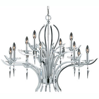 Allure 12-light Chrome Plated Finish Chandelier