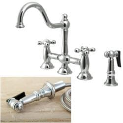 Chrome Bridge Kitchen Faucet