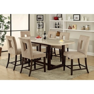 Furniture of America Bailey 7-piece Counter-height Espresso Dining Set