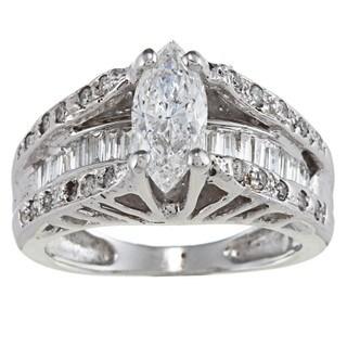 14k Gold 1 1/2ct TDW Diamond Estate Engagement Ring (G-H, SI1-SI2)