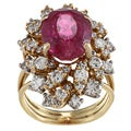 18k Gold Rubalite and 4/5ct TDW Diamond Estate Ring (G-H, SI1-SI2)