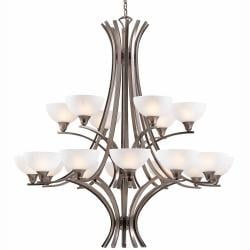 Luxor 18-light Antique Brushed Steel Chandelier