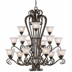 Monte Carlo 18-light Harvest Bronze Chandelier